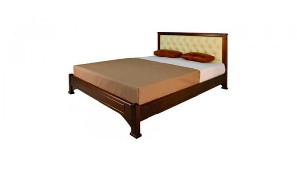 Кровать «Омега» с мягкой прямой спинкой 120x200 см